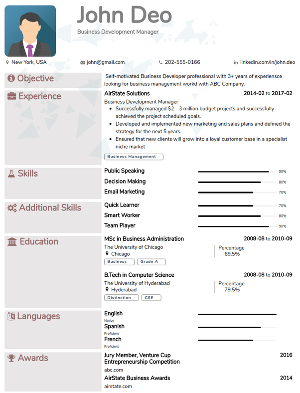 what is the best platform to create a good resume  are