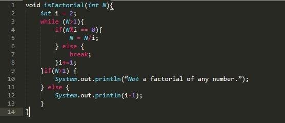Write a program to check whether entered number is factorial of