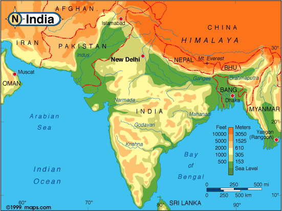 What is the color code on google maps quora here is an elevation map of india india has many economic and natural advantages that should make it powerful in todays world economy discuss gumiabroncs Choice Image