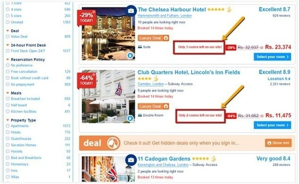 How to increase the conversion rate of a brand new e commerce site hotels makes use of this by showing the number of rooms left at a particular hotel the user thinks she should go and book this hotel before it get fandeluxe Gallery