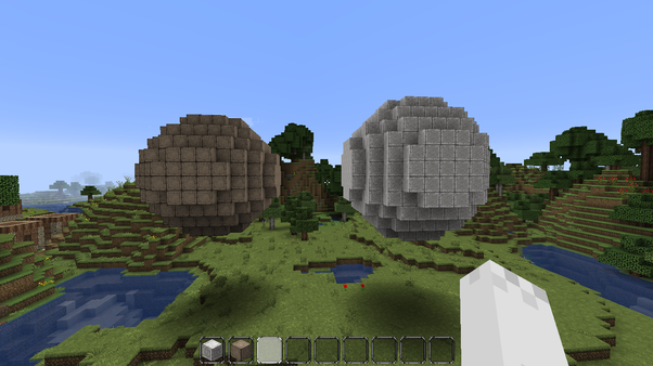 Is it possible to make a circle in Minecraft? - Quora