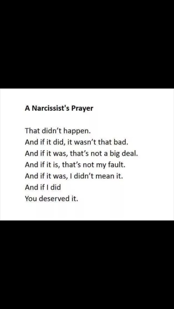 """What does a narcissist really mean when they tell you """"you're being"""