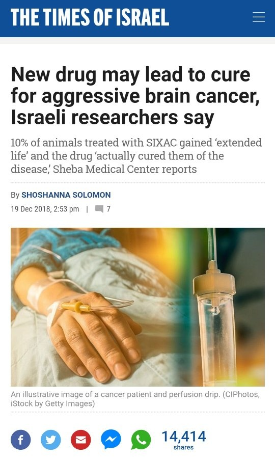 Cure For Cancer Israel
