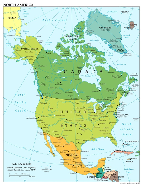 why is canada considered a part of north america isn t canada just