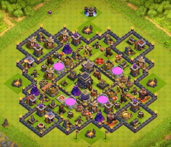 Anti Everything Coc Th9 Farming Base 9