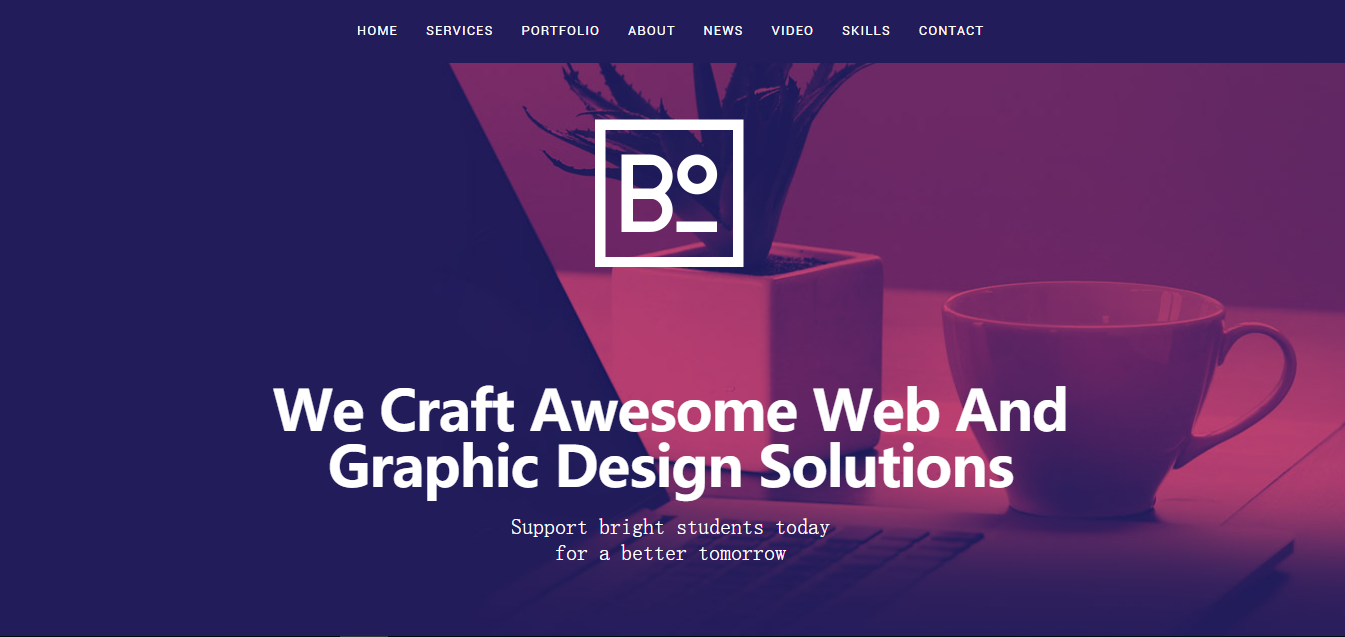 Web design software with templates.