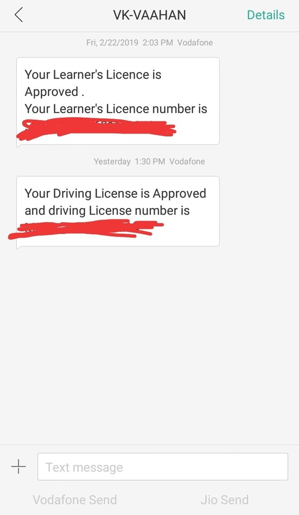 How many days does it take to get permanent driving licence