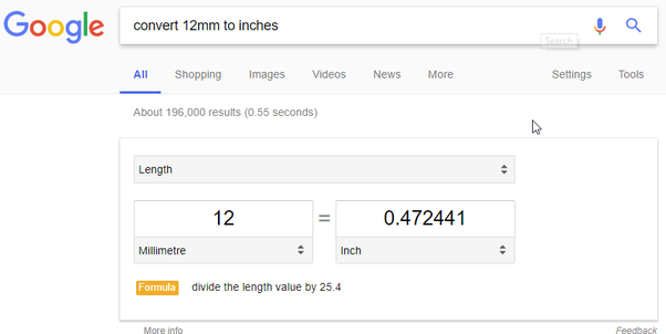 How Many Inches Are In 12mm Quora