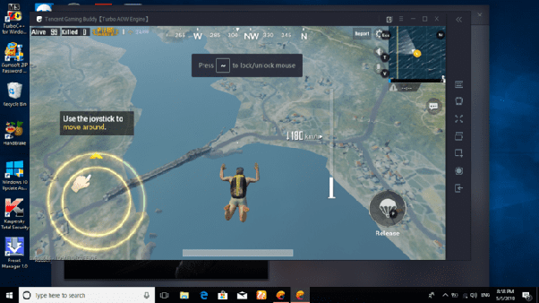 Using emulator, you can play pubg mobile in pc. You will be unlocked to the  high end gaming system for free.