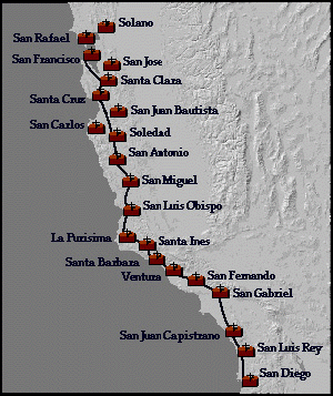 Terrible image intended for california missions map printable