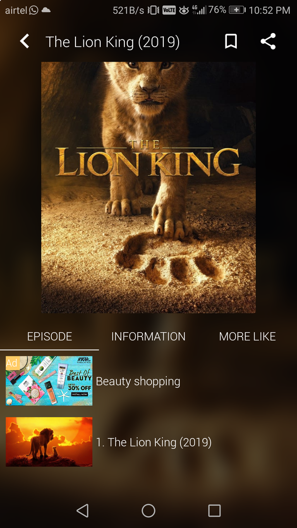 How to download Lion King 2019, safely on Android - Quora
