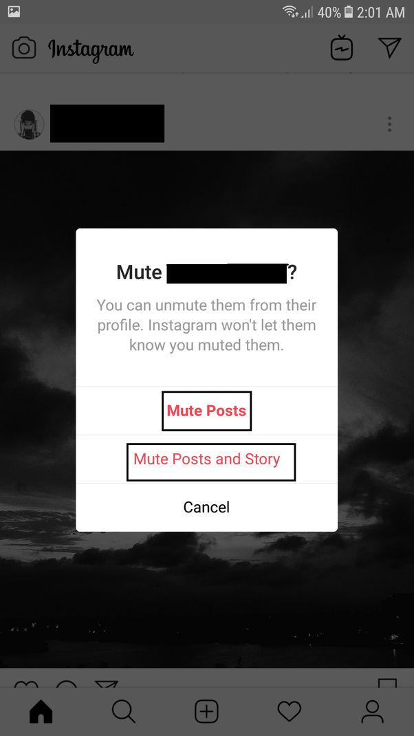 Can the person, whom you muted on Instagram, still receive