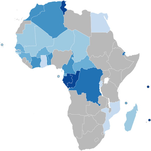 Map Of Africa French.Is It True That Most French Speakers Are Black Quora