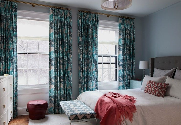 Yes U Can Take Dark Maroon Curtain With Light Blue Walls This Give Very Good Combination Wall