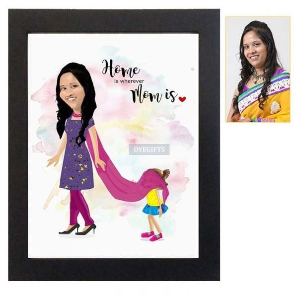 Moms Personalized Caricature Frame