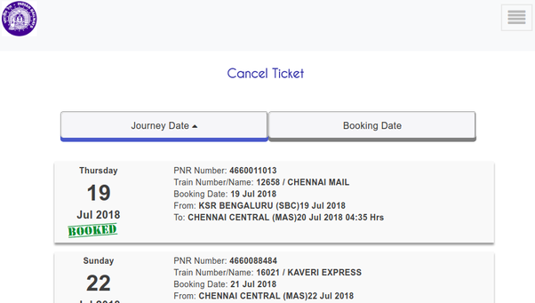 How to retrieve old booked ticket history in irctc co in - Quora