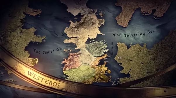 Why is the map displayed in the game of thrones tv series on the western edge i believe is supposed to be the other edge of essos as it was constructed as a sphere and the northeastern corner of the map was gumiabroncs Image collections