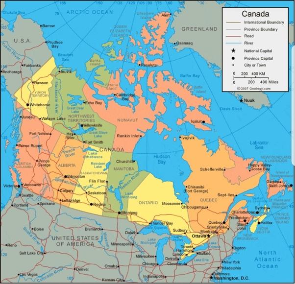 Map Of Canada Provinces Time Zones.Top 10 Punto Medio Noticias Canada Time