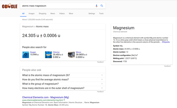 What is the atomic mass of magnesium quora originally answered what is the atomic mass of magnesium urtaz Image collections