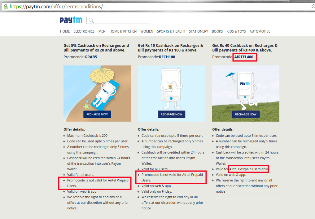 Which site is better, Paytm, Freecharge, and Rechargeitnow? Why? - Quora