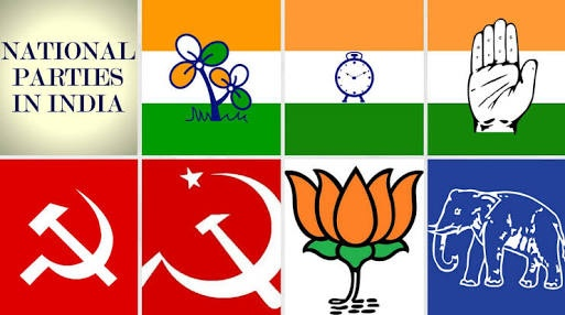 How Many National Political Parties Are There In India And What Are
