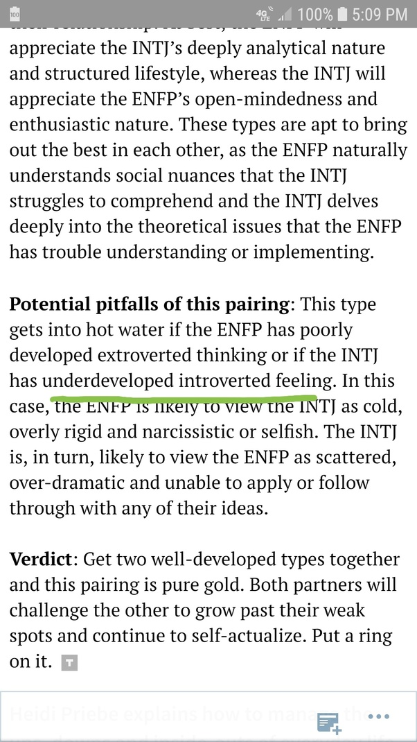 Do ENFPs prefer an INTJ-A or T when it comes to a relationship? - Quora