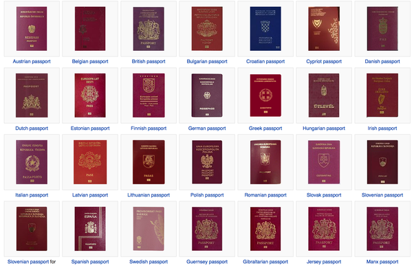 Do All Countries In The European Union Have The Same Passport Color
