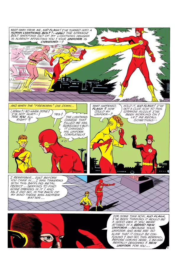 why does the kid flash have the same costume design as the reverse