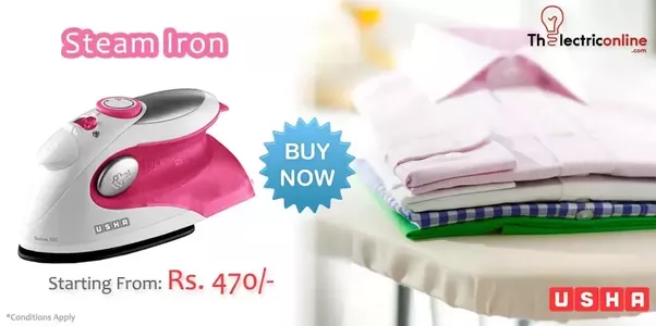 Usha Ei 3302 Steam Iron Morphy Richards Inspira Dry Is The Best On Market And Avail Electrical Online