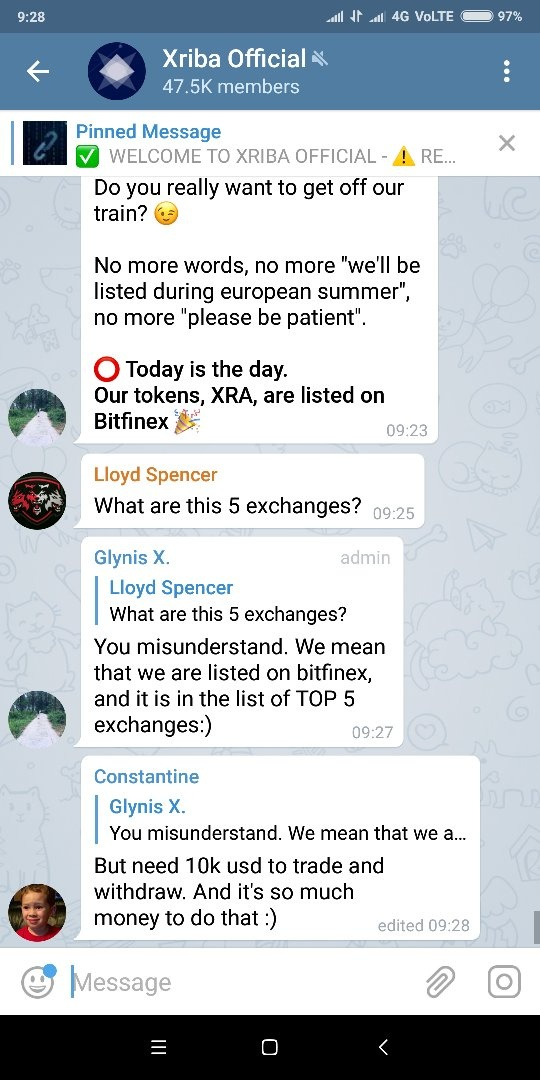 How can a member of a Telegram group find who is the administrator