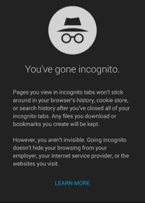 When browsing in private/incognito mode, can your service