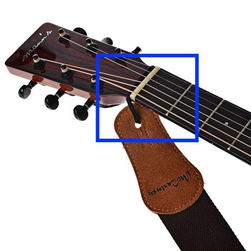 How to fix a shoulder strap on a Yamaha F310 acoustic guitar