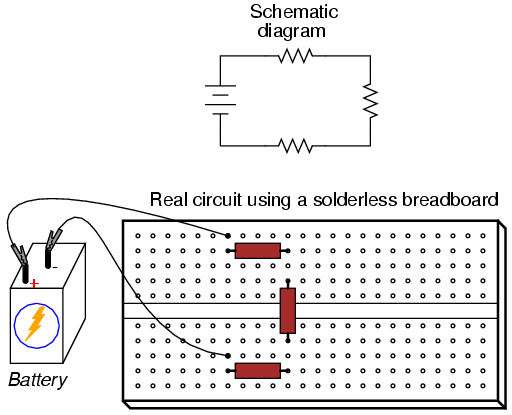How To Connect Series And Parallel Connections Of Resistors On A Breadboard