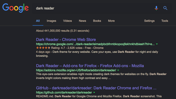 dark mode in chrome for android