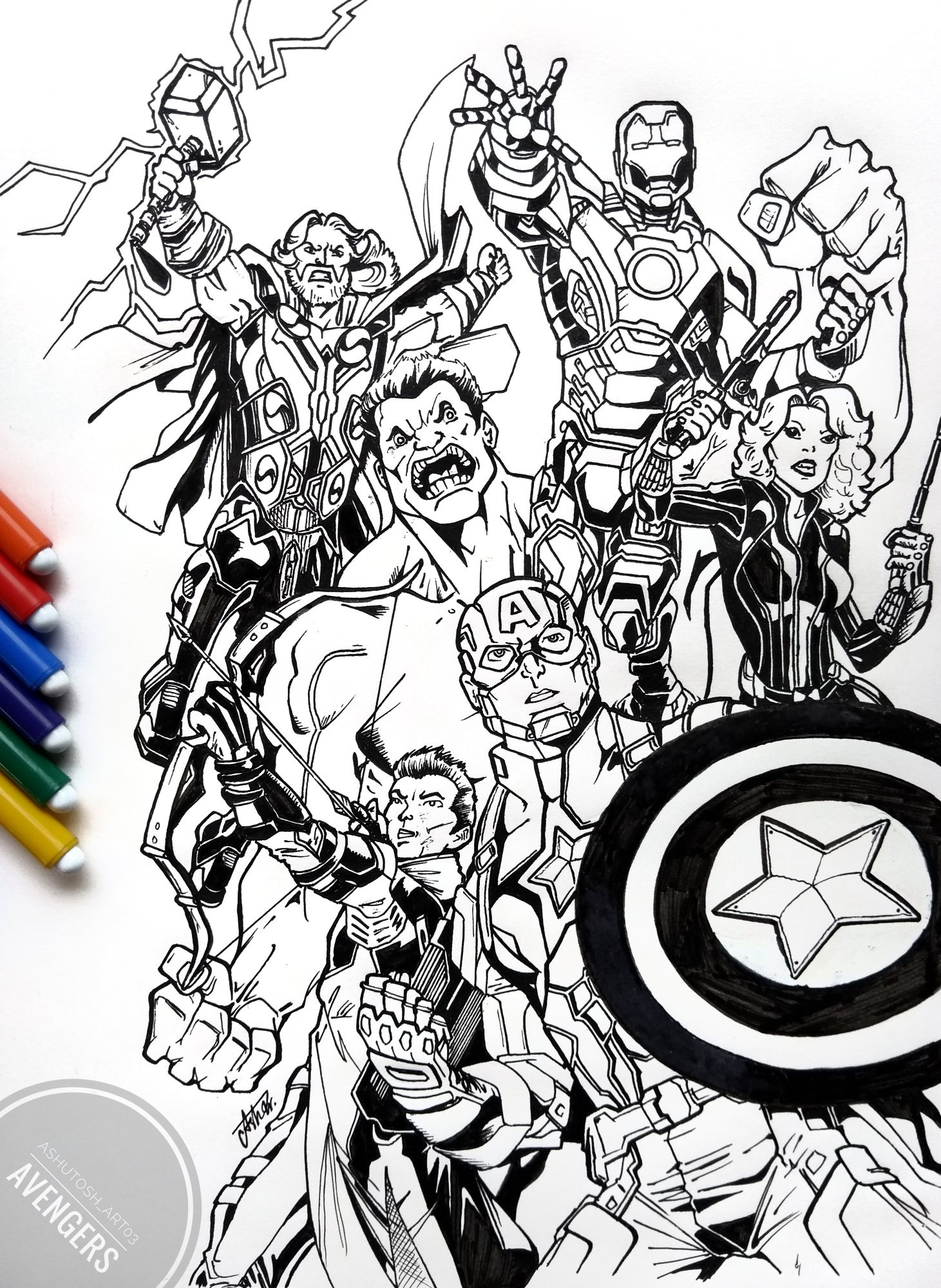 Avengers Endgame Drawing Images