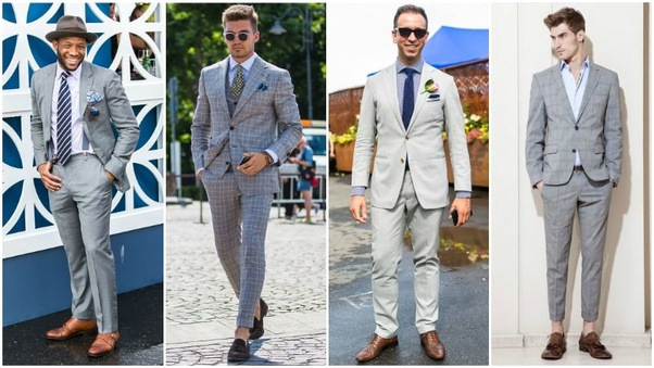 1281bf651b0 What color shoes should I wear with a gray blazer  - Quora