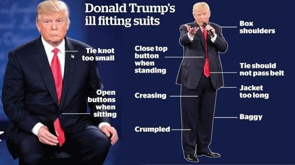 Image result for trump bad suit
