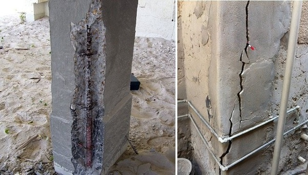 How Can We Repair Cracks In Concrete Columns Quora