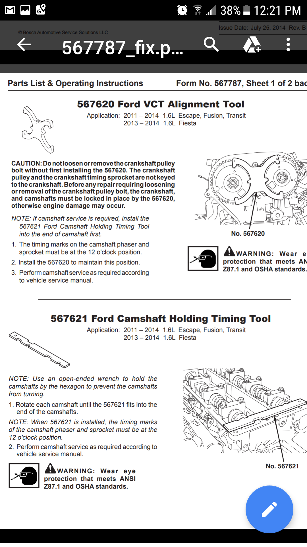 How to set the crankshaft and camshaft marks when replacing