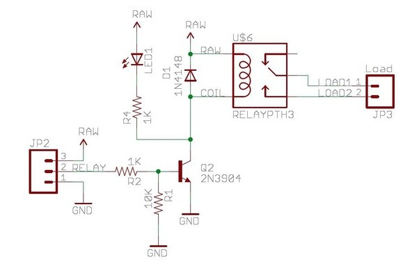 what is the schematic to control a 220 volt ac motor with a very low voltage  current  bjt  via