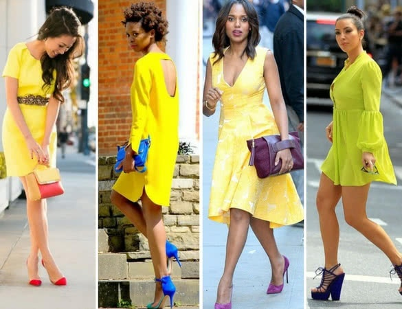 What best suits a yellow dress?