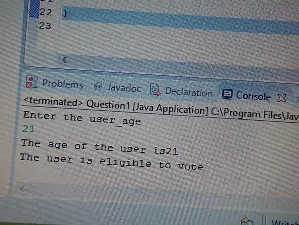 how to write a java program code