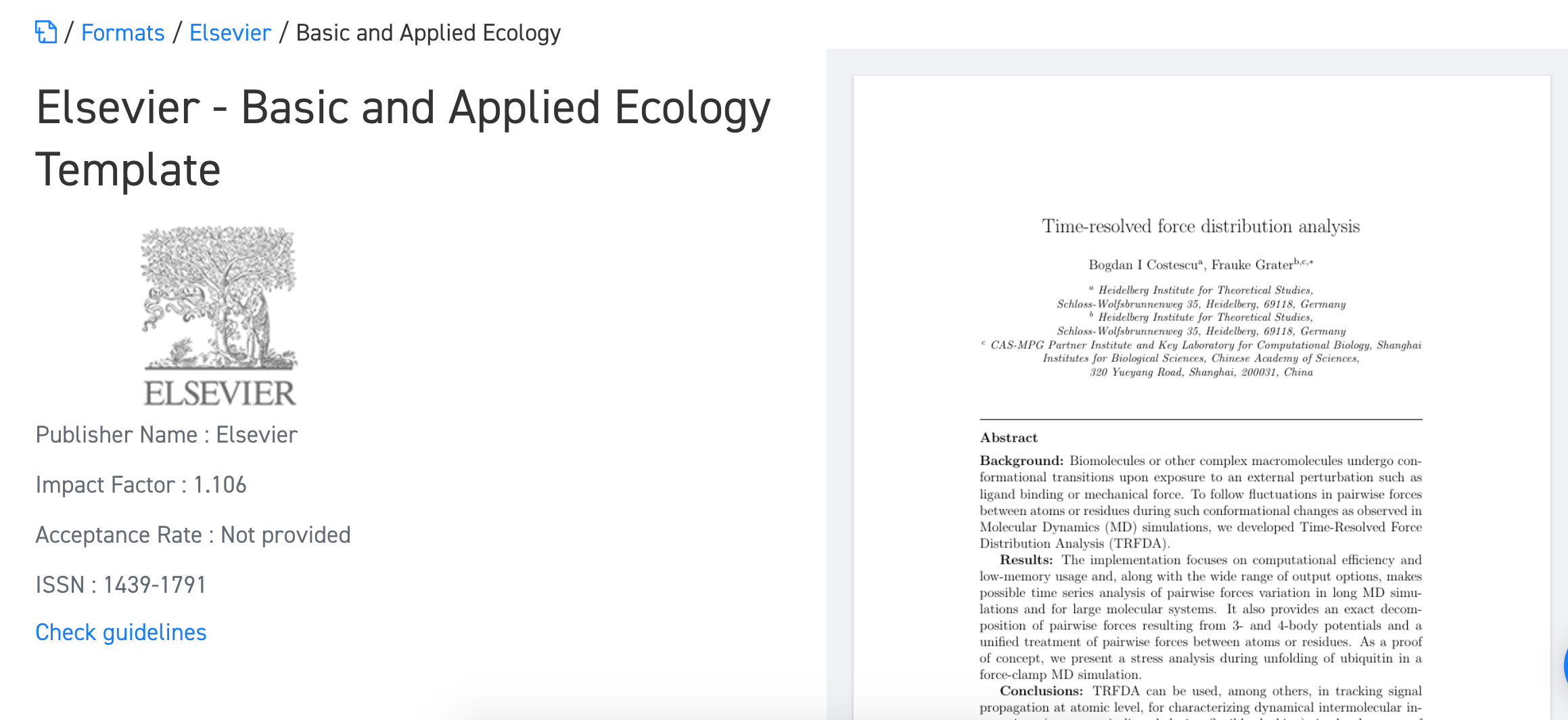 Where Can I Find The Word Template For Elsevier Journals For