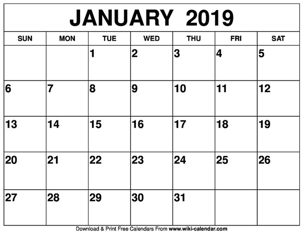 image relating to January Calendar Printable called How towards buy a released or printable calendar for January 2019