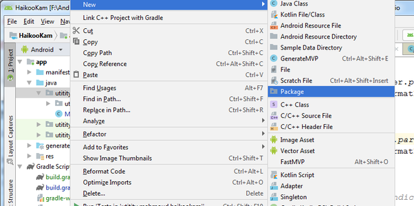 How to create a new package in Android Studio 3 3 2 - Quora