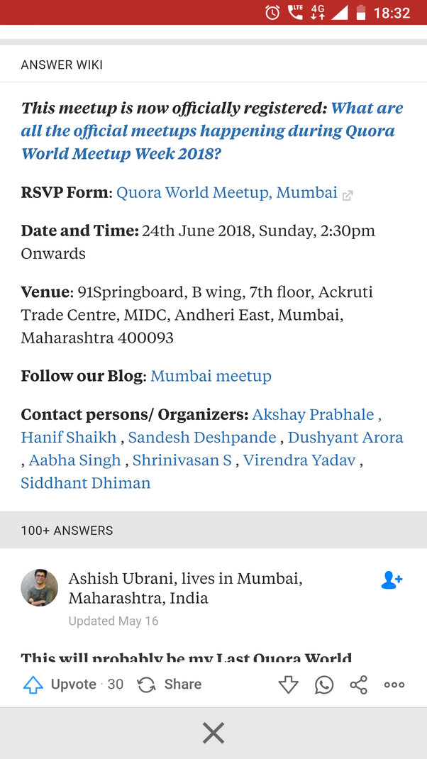 Are there any Quora meetups scheduled or likely to be scheduled in