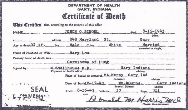 Are Death Certificates Public Record Quora
