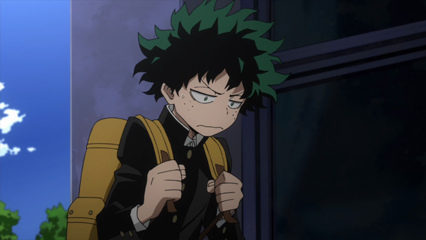 How has Izuku Midoriya changed from the beginning of My Hero