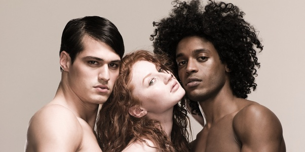 Naked black women and white men