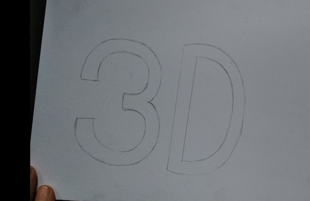 How to draw 3D letters - Quora